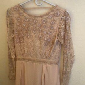 Blush backless dress